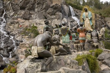 Statue of Virgin Mary Appearing to Juan Diego Guadalupe Shrine M