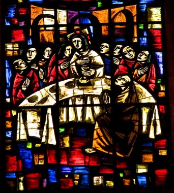 Last Supper Stained Glass Temple of Atonement Mexico