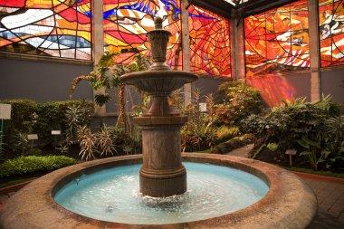 Cosmovitral Garden with Fountain Toluca Mexico