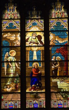 Annunciation Mary Stained Glass St. Patrick's Cathedral New York