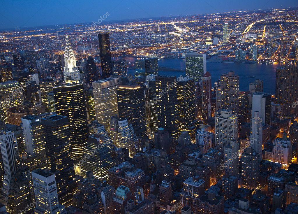 Chrysler building at night skyline