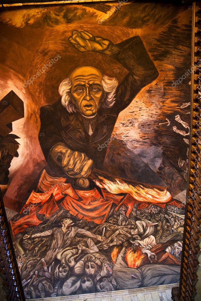 Mural de hidalgo orozco gobierno palacio guadalajara for Aviso de ocasion mural guadalajara
