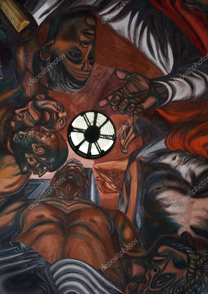Orozco Mural University Of Guadalajara Mexico Stock Photo