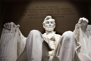White Lincoln Statue Close Up Memorial Washington DC