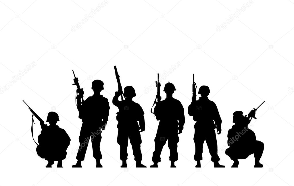 Soldier Silhouette stock vector