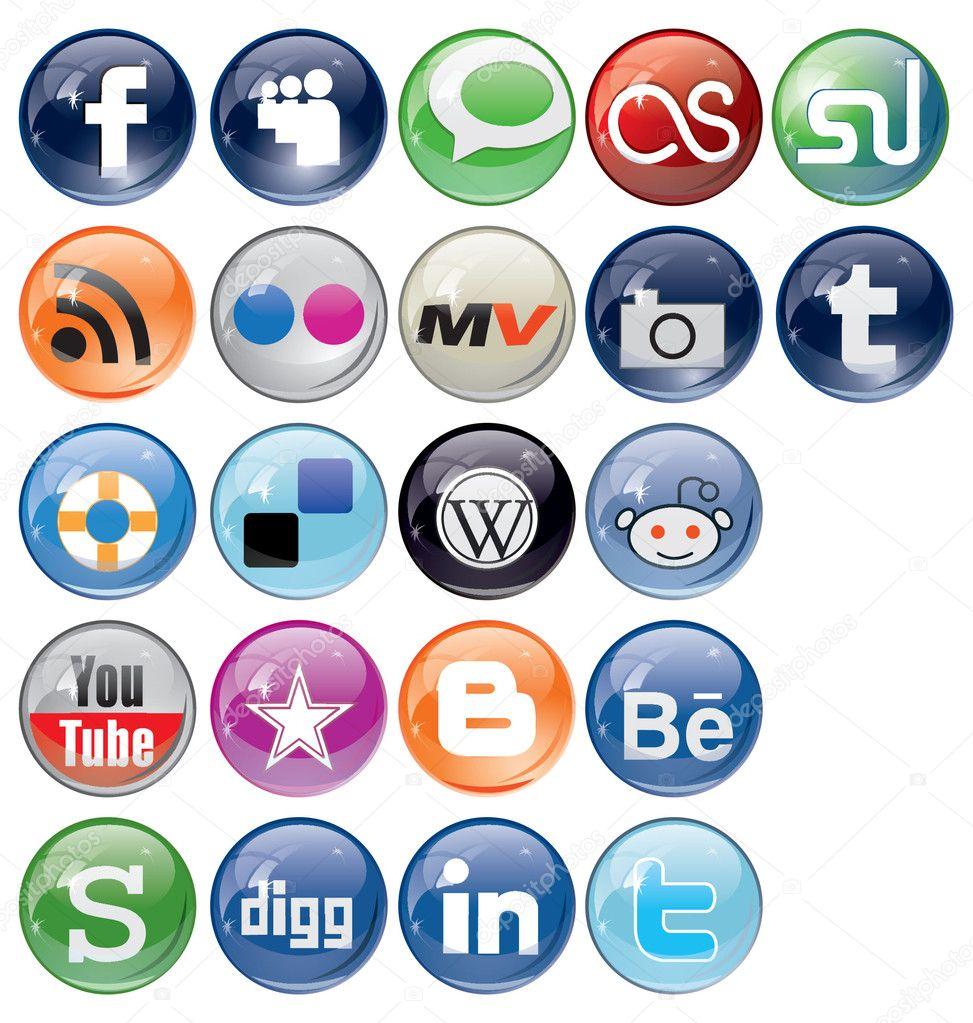 Social Bookmark icons Set