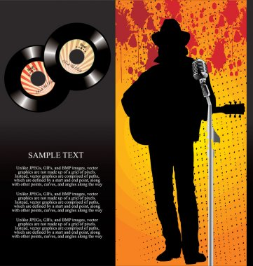 Retro 45 Rpm Musician Background