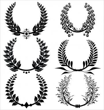 Laurel wreaths Set
