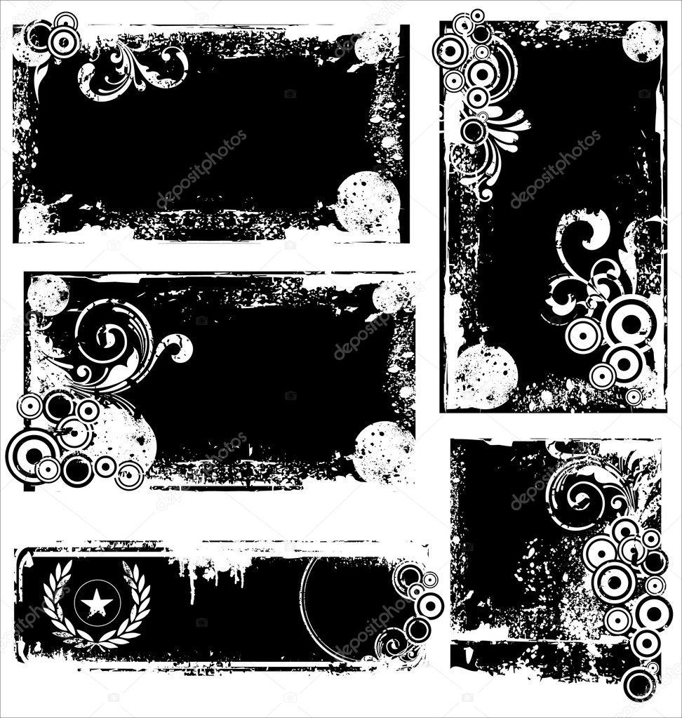 grunge frames und ecken — Stockvektor © creative-4m #6034311