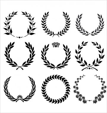 Set Of Laurel Wreaths stock vector