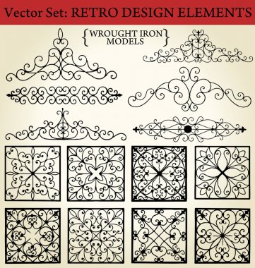 Wrought iron - Retro Design Elements