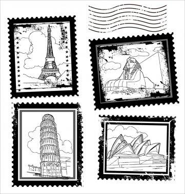 World Landmarks postage Stamps