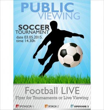 Public viewing soccer tournament banner