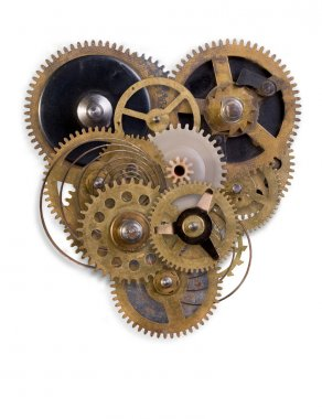 The mechanical heart made of small parts