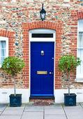 Fotografie blauen Eingangstür