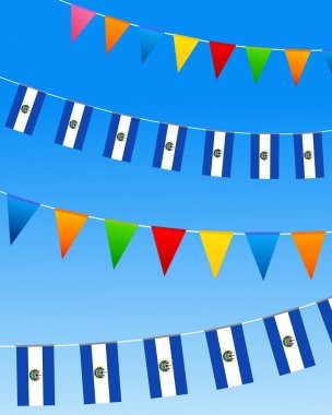 El Salvador Bunting flags
