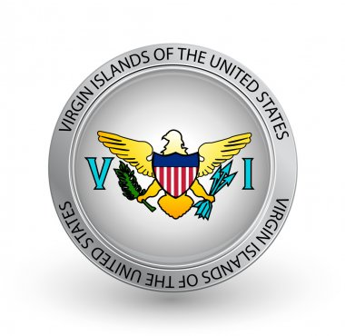 Badge - Flag of Virgin Islands of the United States