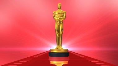 Film award on red carpet