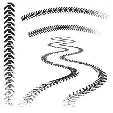 Grunge Caterpillar tracks