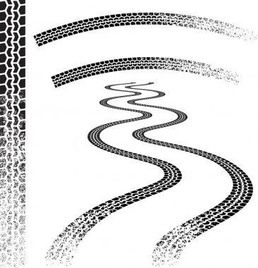 Grunge car Tire tracks