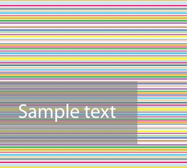Colourful horizontal striped background