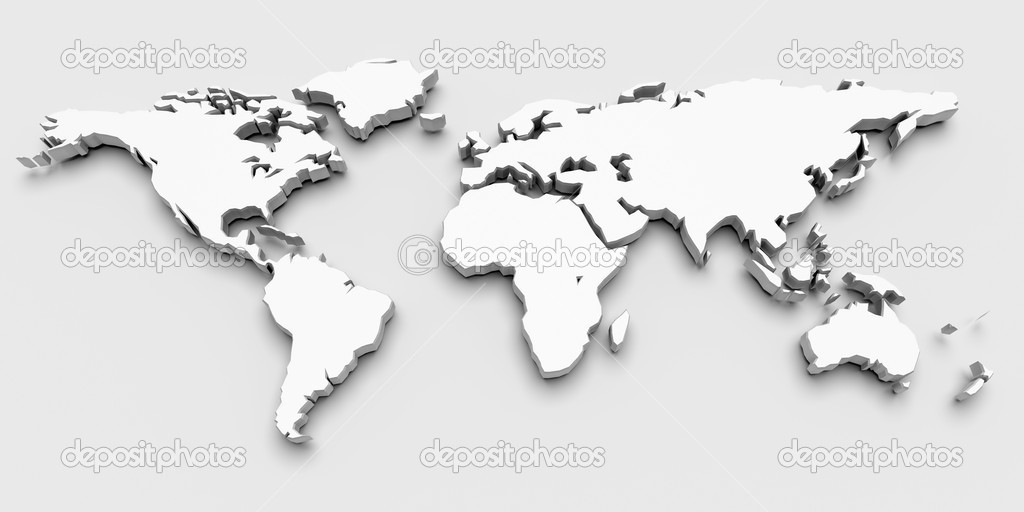 3d world map stock photo yermek 6220113 3d world map photo by yermek gumiabroncs Image collections