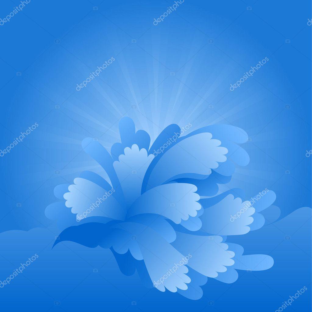 Blue water splash background