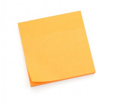 Orange post-it notes