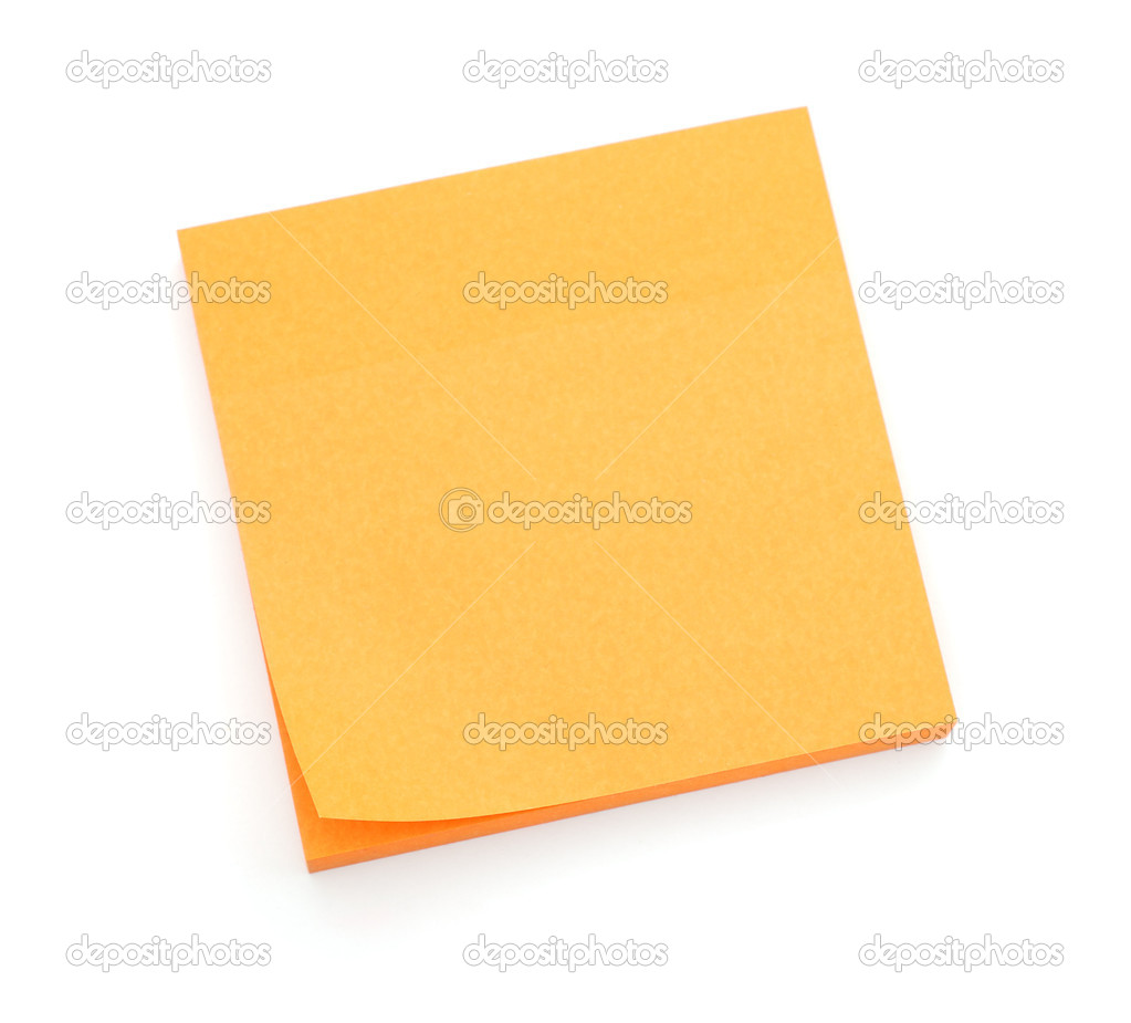 Orange post-it notes — Stock Photo © human_306 #6163875