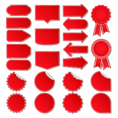 Big set of red vector price tags stock vector
