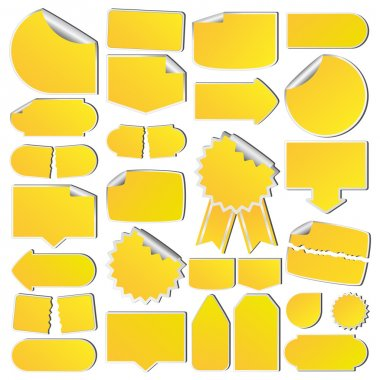 Set of Yellow Price Tags