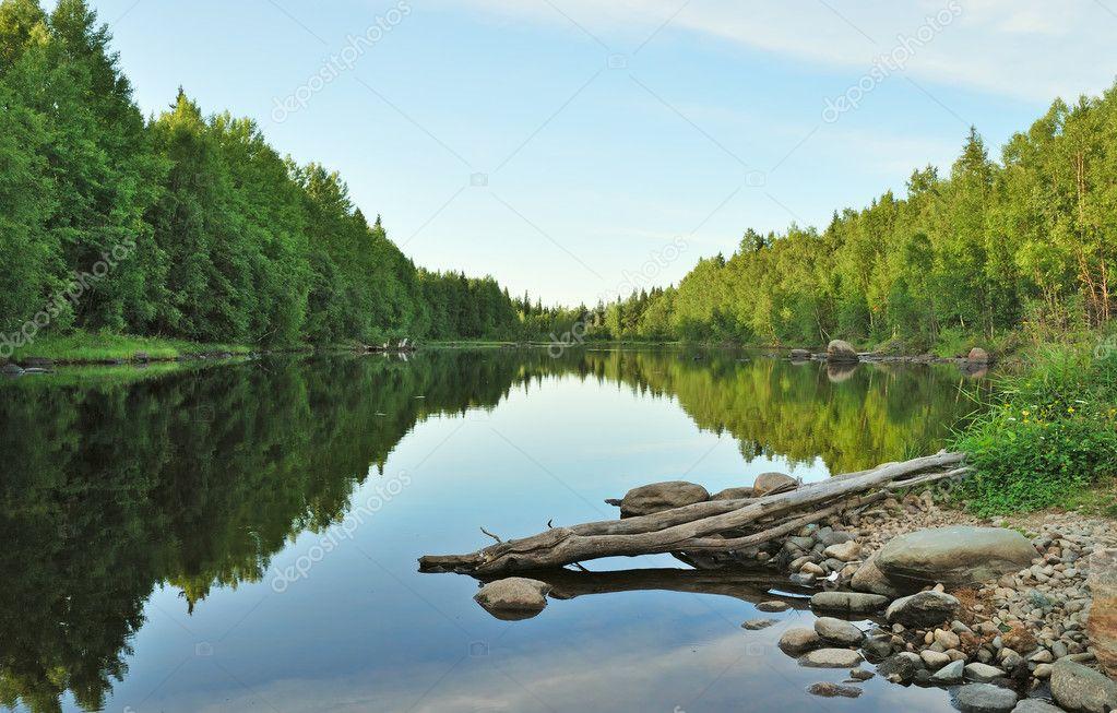 Фотообои Evening on the lake