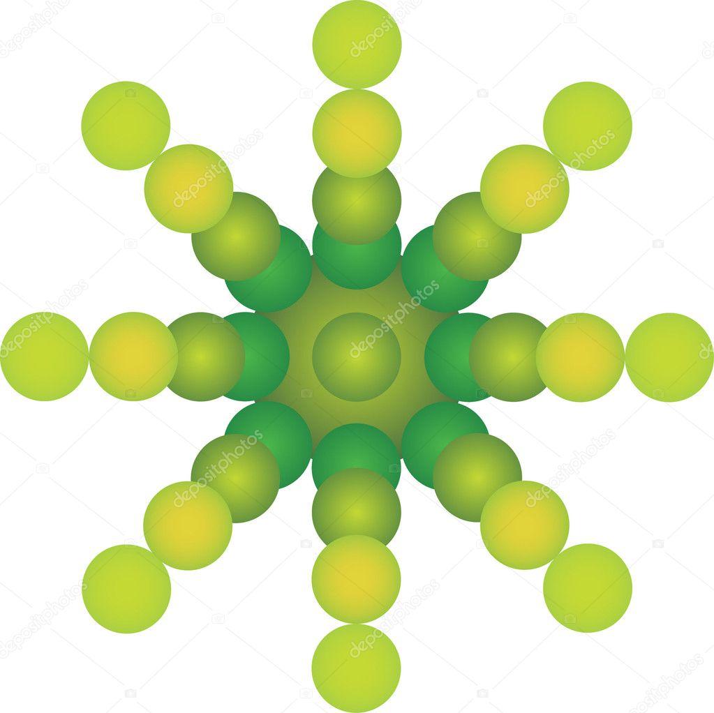 Green Plantlike Wheel