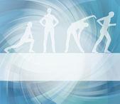 animovaný žen gymnastické cvičení pozadí obrázku