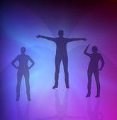 Fotografie animovaný žen gymnastické cvičení pozadí obrázku