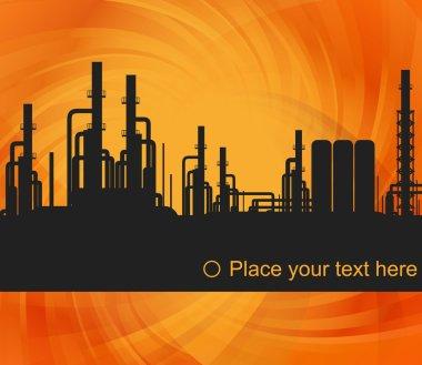 Oil refinery station background illustration
