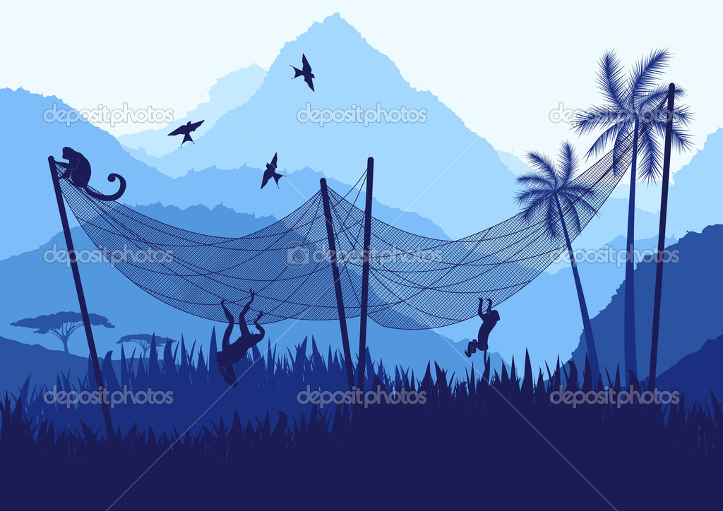 Africa nature vector background