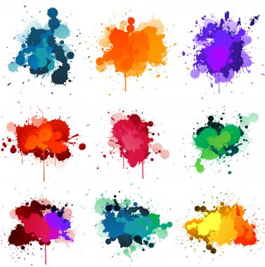 Paint splat collection stock vector