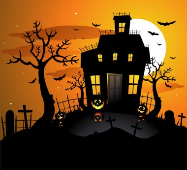 Halloween background invitation