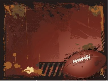 Grunge american football background