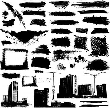 Grunge urban elements