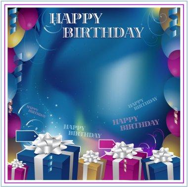 Happy birthday background clip art vector