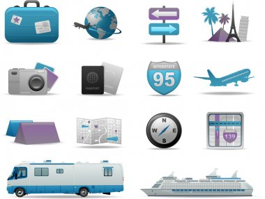 Travel icons and symbols collection