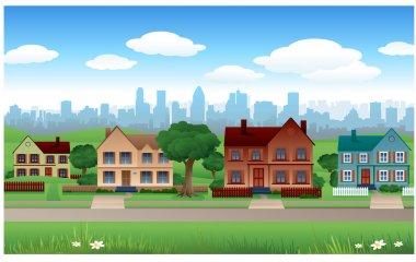 Suburban background