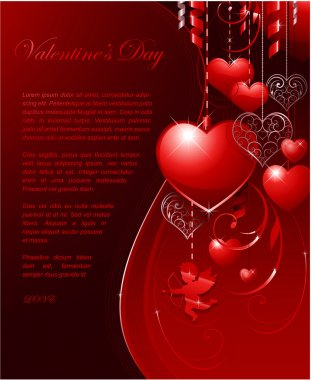 Valentines day background for wedding or greeting card clip art vector