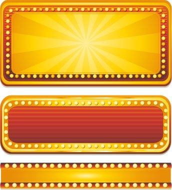 Vector casino banners