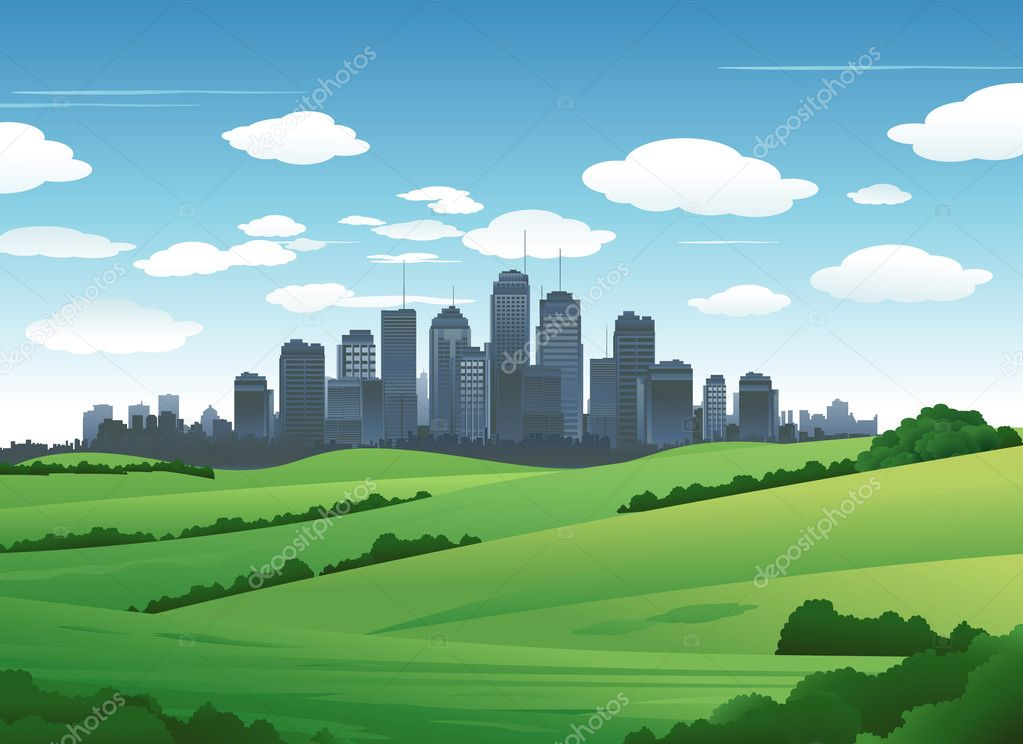 Big city Suburb background
