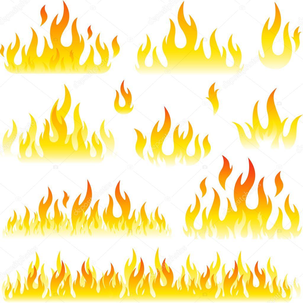 Flame design element