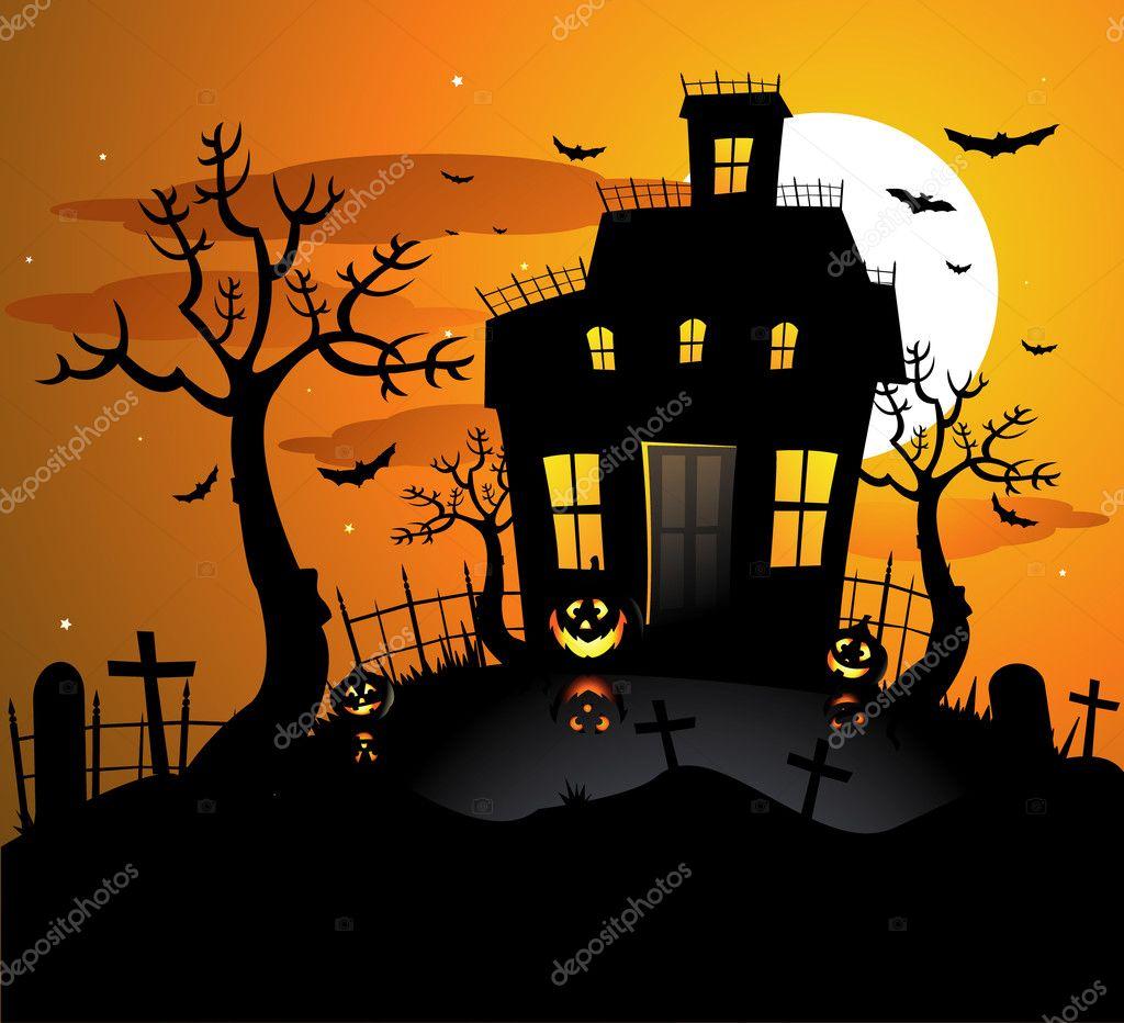Halloween Background Invitation Stock Vector C Hugolacasse 6059230