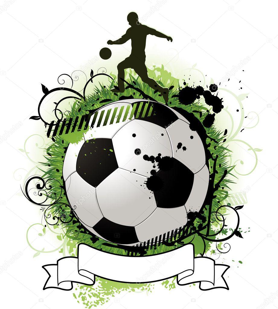 Grunge soccer design